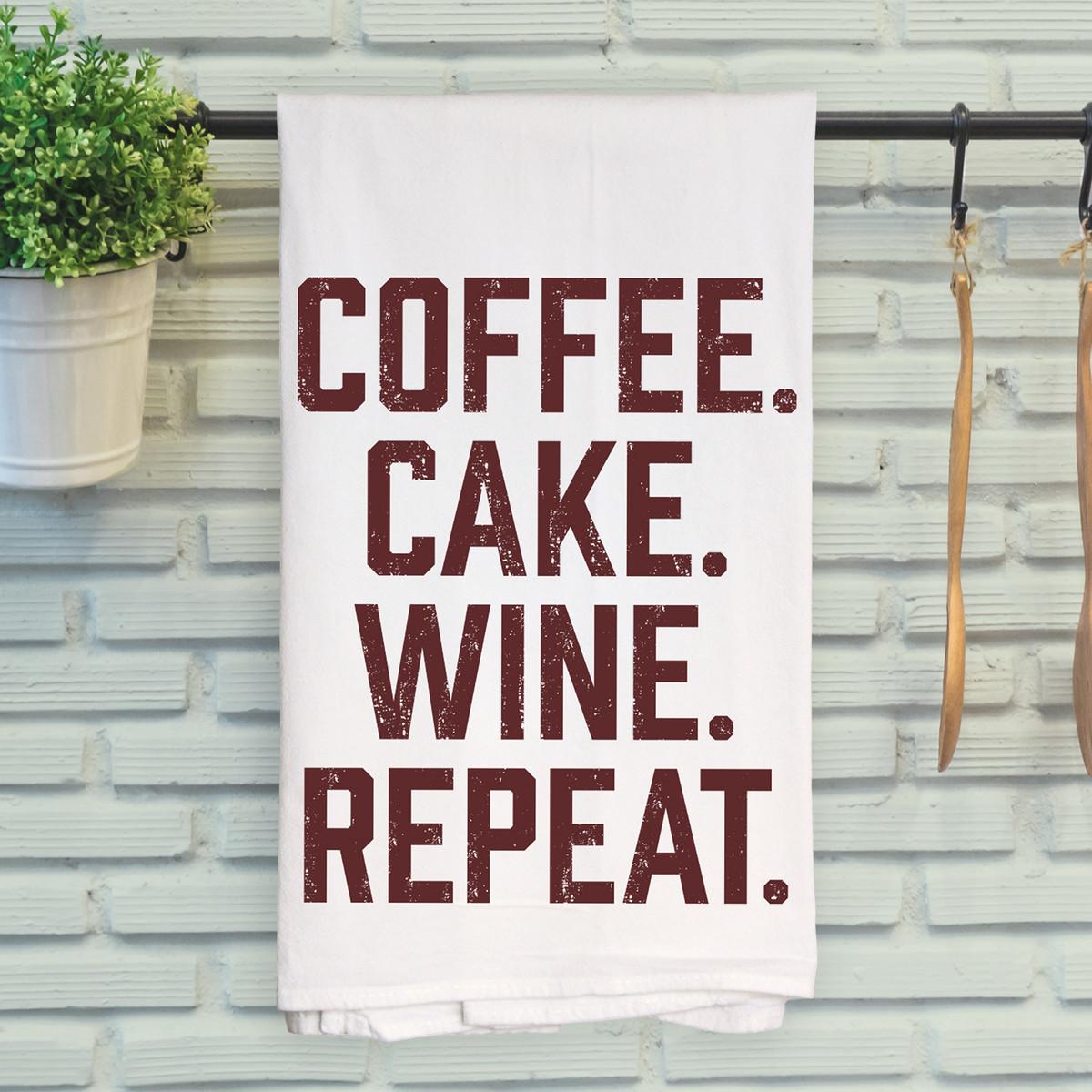Coffee. Cake. Wine. Repeat.