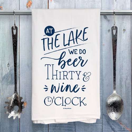 Beer Thirty Lake Kitchen Towel