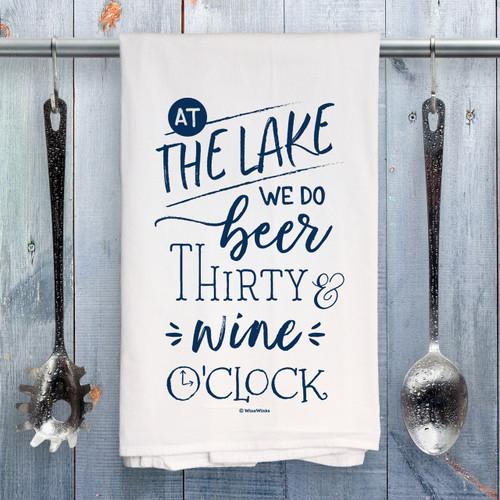 Beer Thirty Lake Kitchen Towel