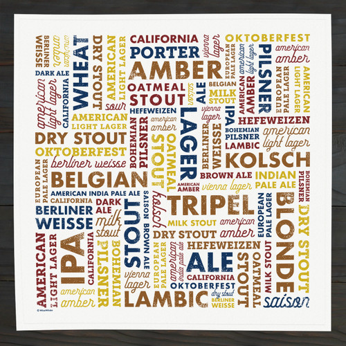 Beer Types Bar Towel