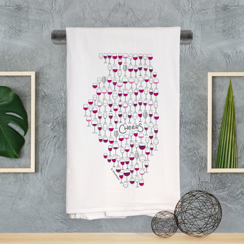 Illinois Cheers Kitchen Towel