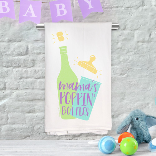 Mama's Poppin' Bottles Kitchen Towel