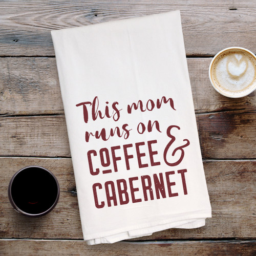 Coffee And Cabernet Kitchen Towel