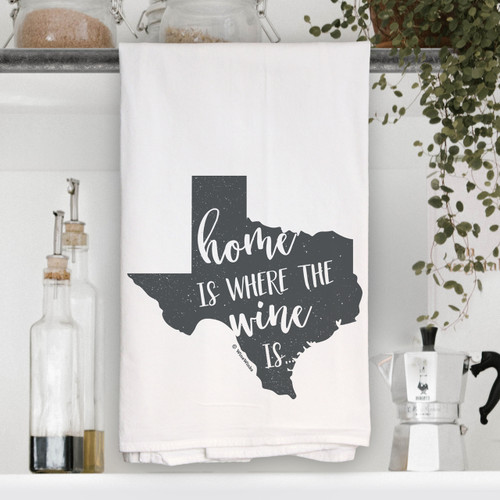 Texas Home Is Kitchen Towel