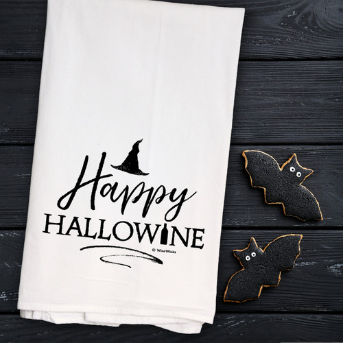 Happy Hallowine Kitchen Towel