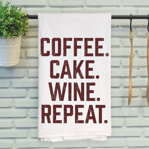 Coffee. Cake. Wine. Repeat.