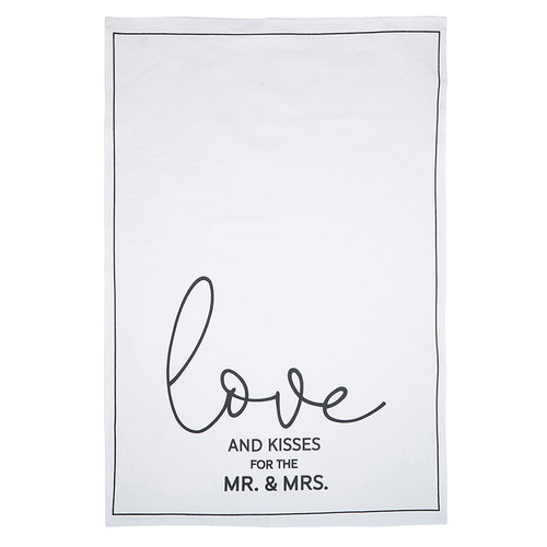 Love and Kisses for the Mr. & Mrs. Tea Towel