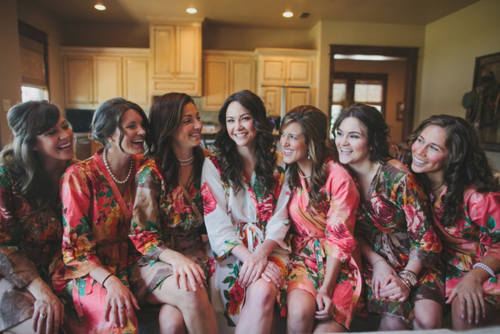 Mismatched Large Floral Blossom7 Robes in bright tones