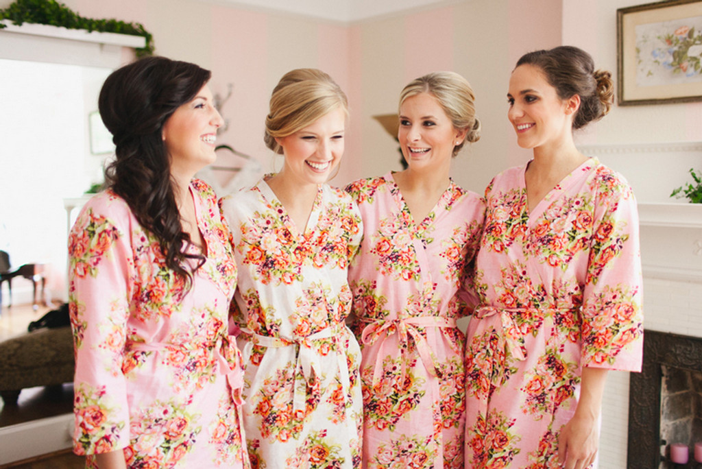 67761afee3 Pink Robes for bridesmaids | Getting Ready Bridal Robes