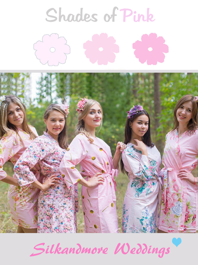 Baby Pink Wedding Color Robes