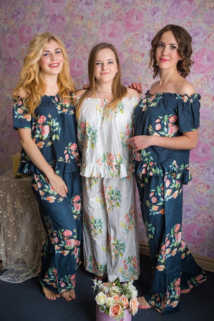 Off-Shoulder Style PJs in Angel Song Pattern