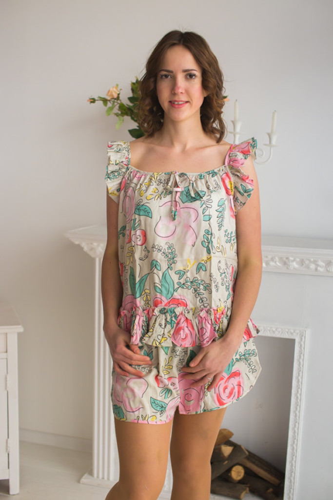 Ruffled Style PJs in Whimsical Giggles Pattern