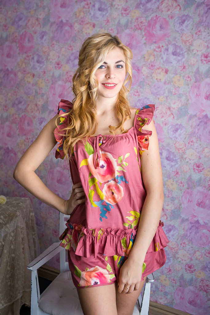 Ruffled Style PJs in Smiling Blooms Pattern