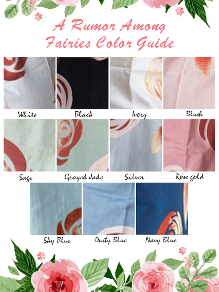 a rumor among fairies Pattern color guide