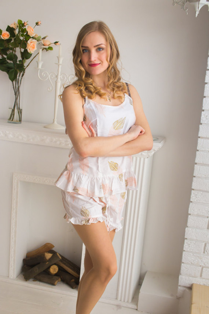 Frilly Style PJs in a feather rhyme Pattern