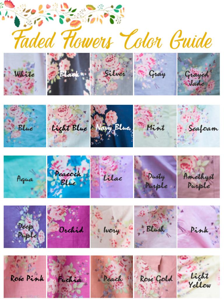 Frilly Style PJs in Faded Flowers Pattern