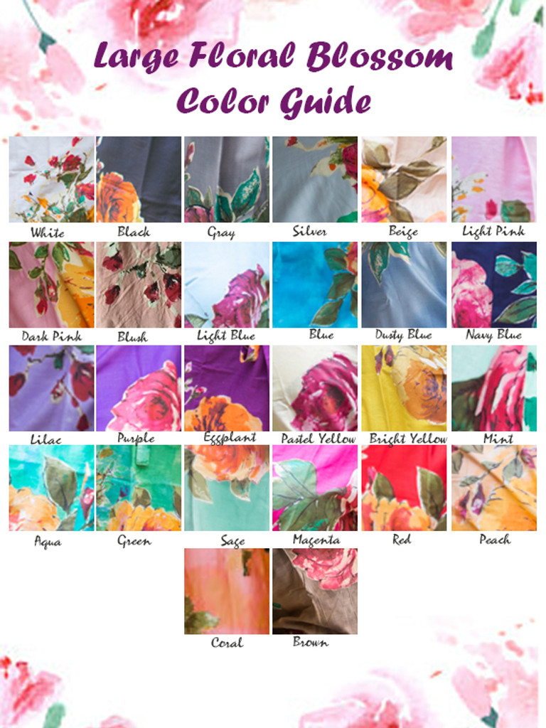 Large Floral Blossom Pattern Color Guide