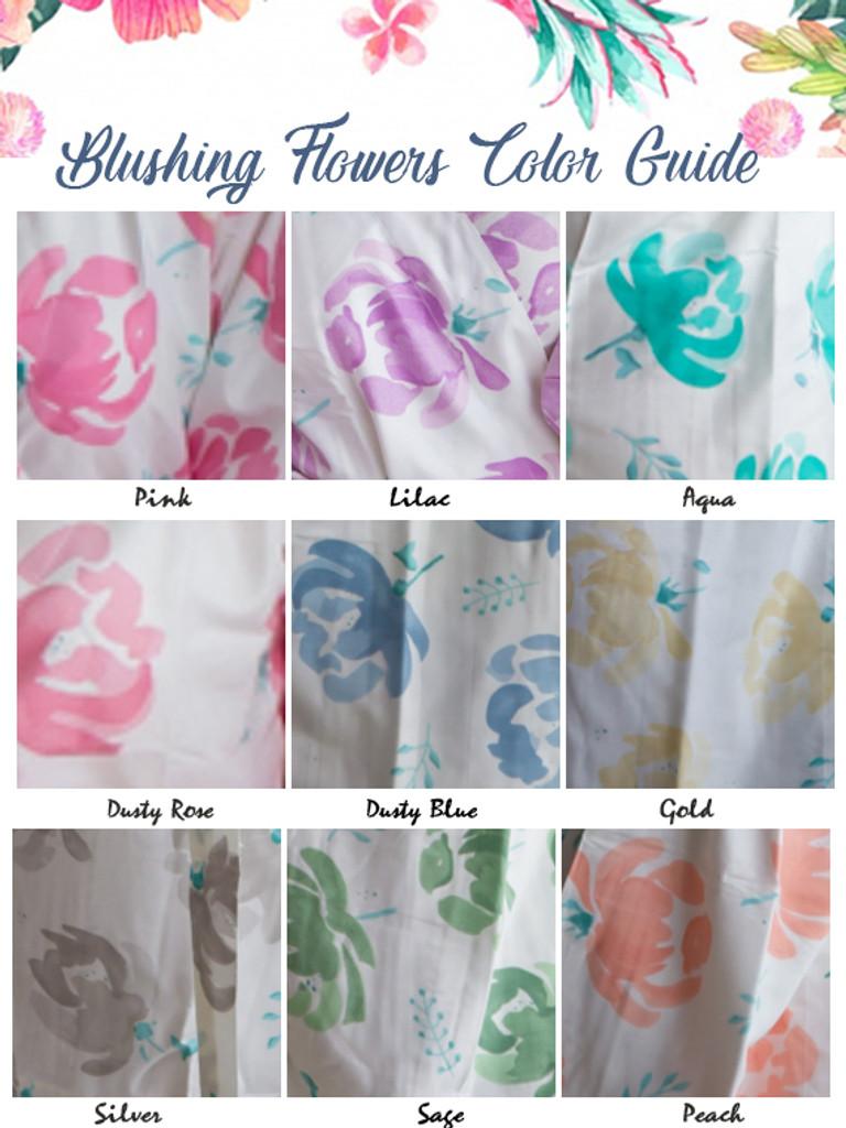 U-shaped neckline Style PJs in Blushing Flowers Pattern