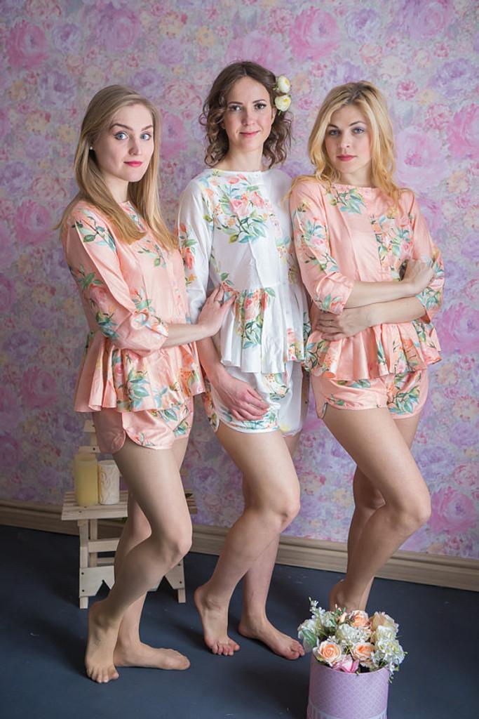 Peplum Style PJs in Angel Song Pattern
