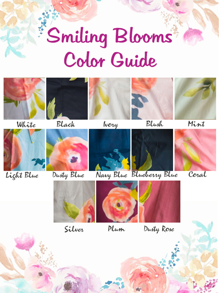 Color guide of smiling bloom