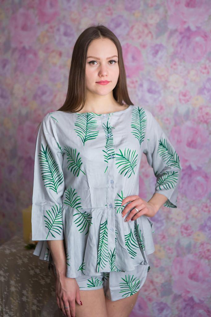 Peplum Style PJs in Tropical Delight Pattern