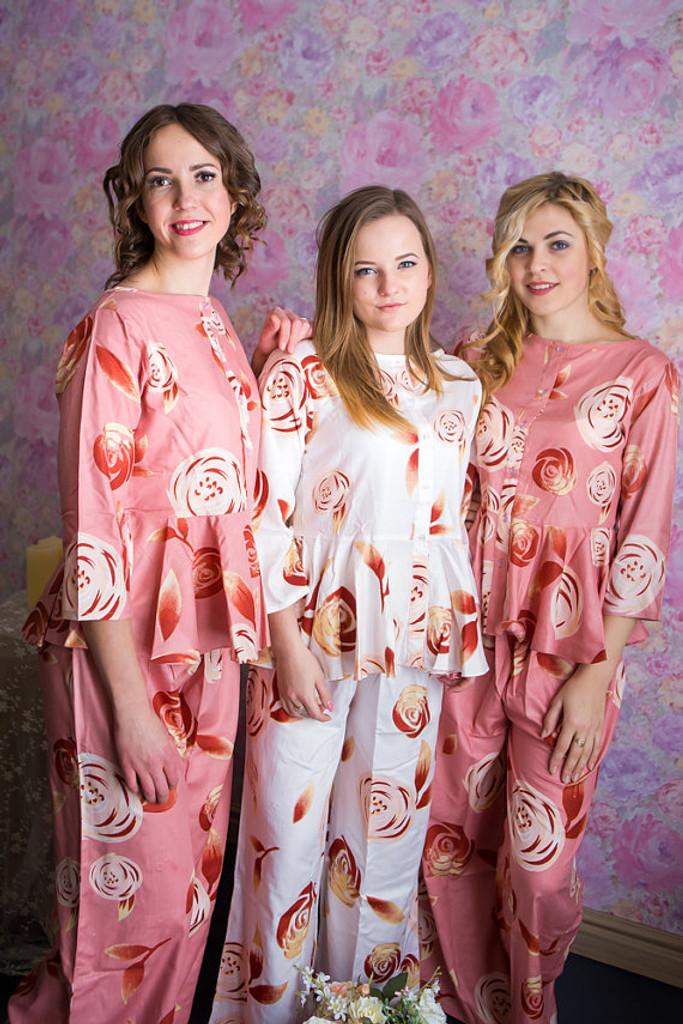 Peplum Style Long PJs in a rumor among fairies Pattern