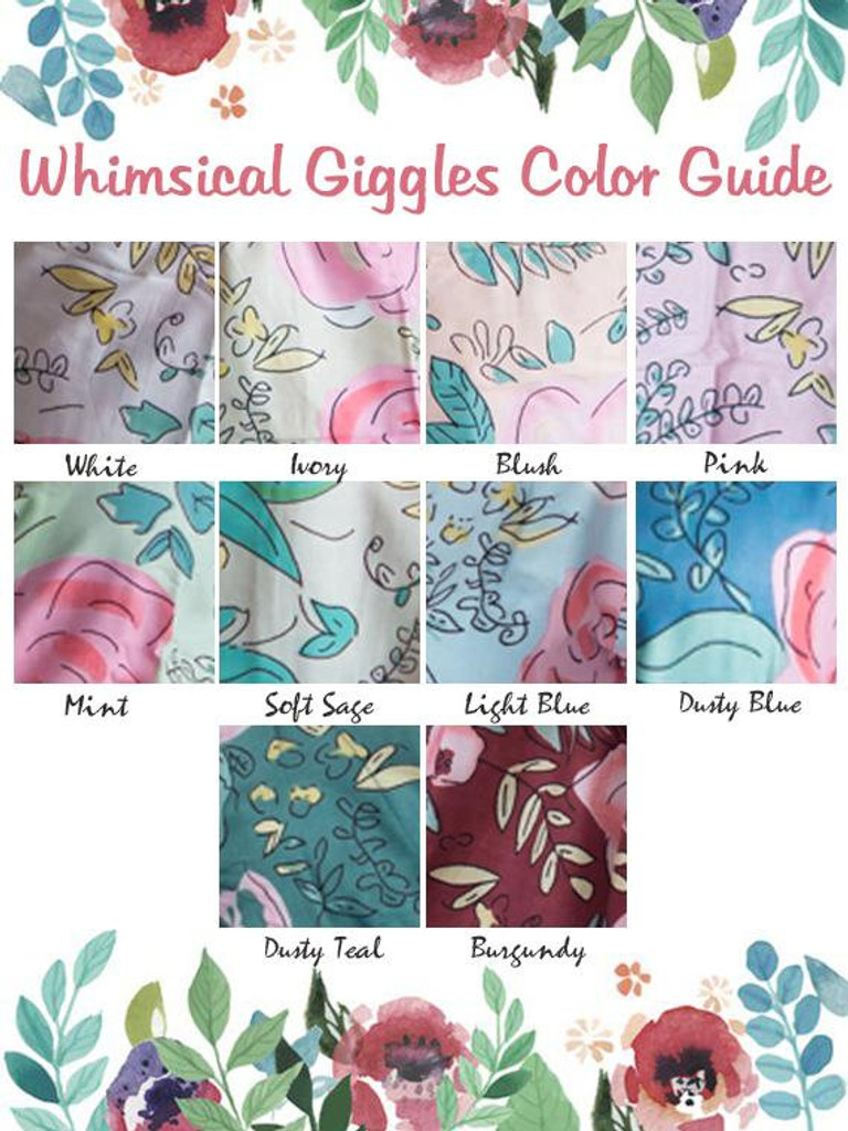 Peplum Style PJs in Whimsical Giggles Pattern