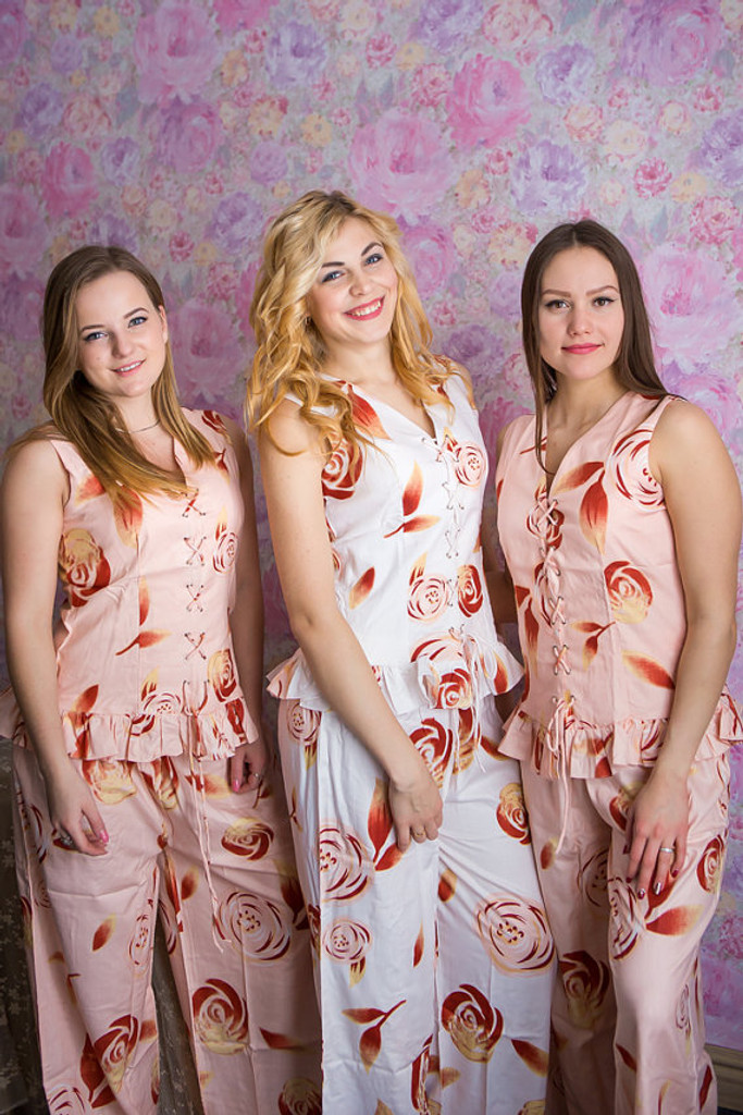 Corset Style Long PJs in a rumor among fairies Pattern