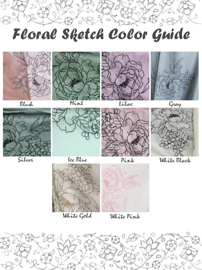 Floral Sketch Color Swatch