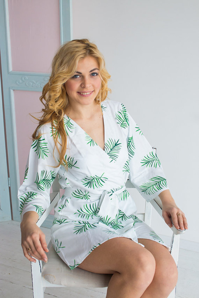 Tropical Delight Pattern- Premium Pink Bridesmaids Robes