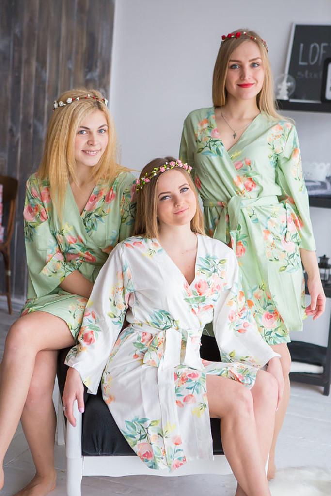 Premium Soft Sage Bridesmaids Robes