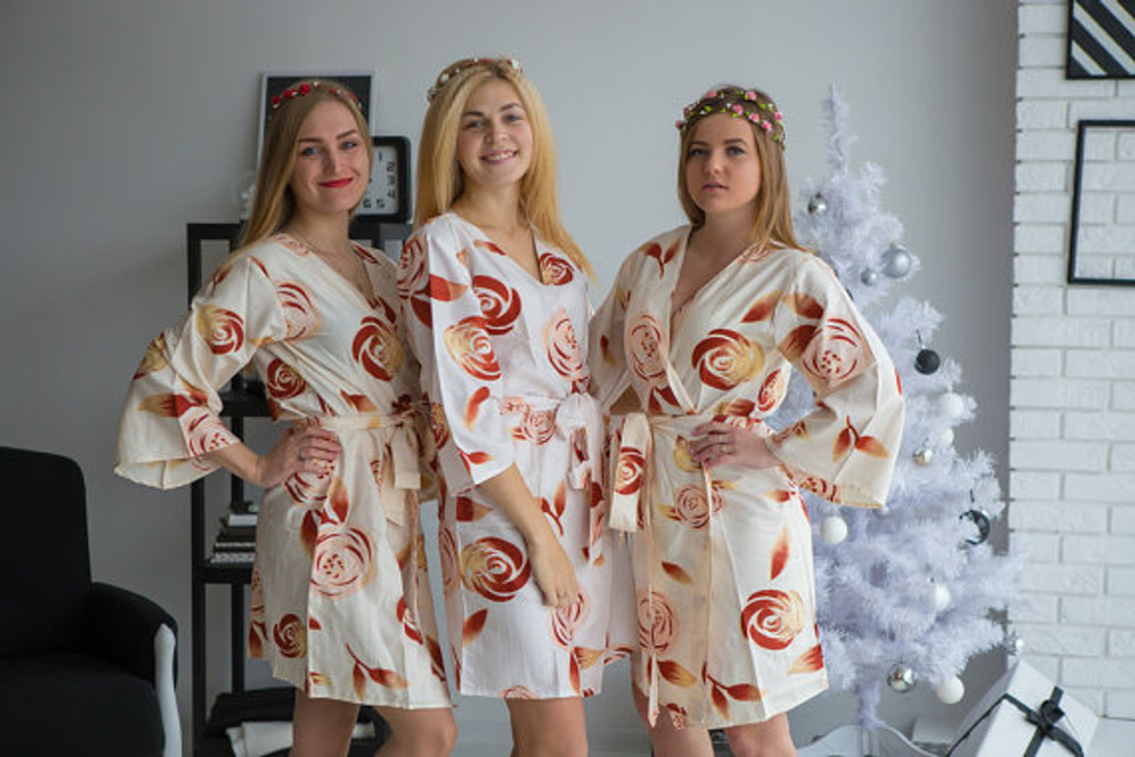 Ivory bridesmaids wedding robes in rumor among fairies