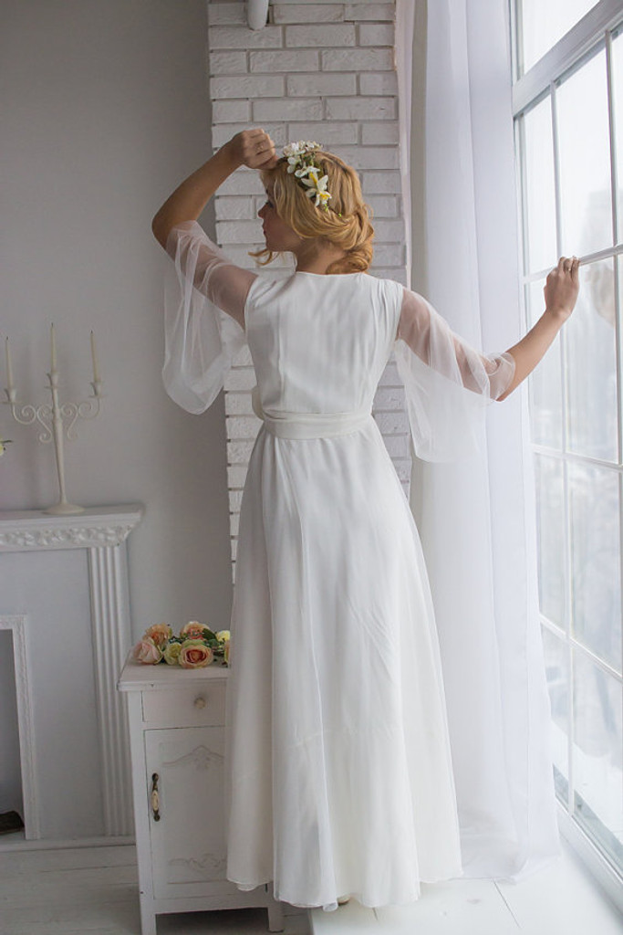 All White Bridal Robe from my Paris Inspirations Collection - Eternally Pure in White