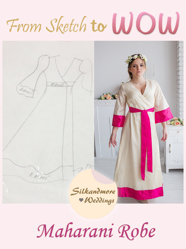 Ivory Bridal Robe from my Paris Inspirations Collection - Maharani Robe in Ivory
