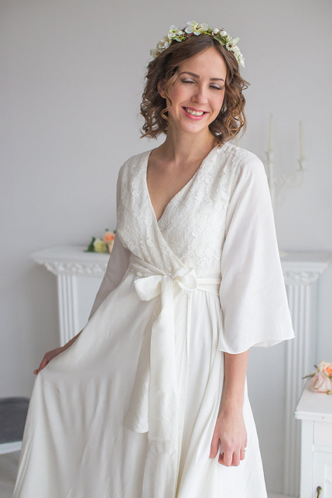 Naughty Ruffles in White Bridal Robe from my Paris Inspirations Collection