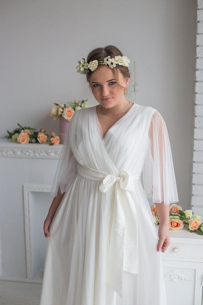 Bridal Robe from my Paris Inspirations Collection - Minimal Mojo in White
