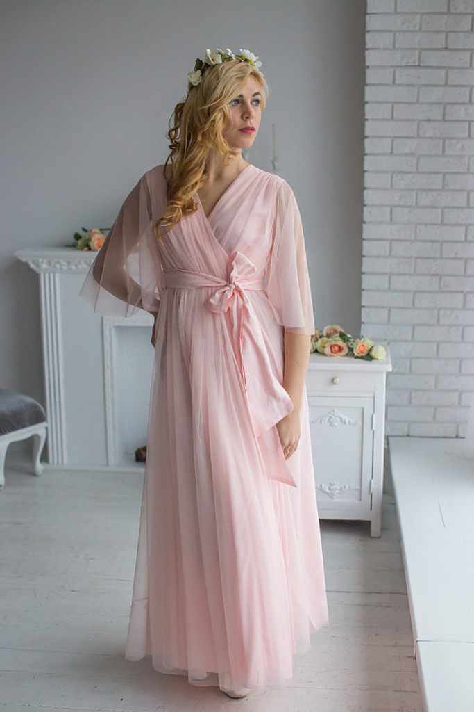 Blush Bridal Robe from my Paris Inspirations Collection - Minimal Mojo in Blush