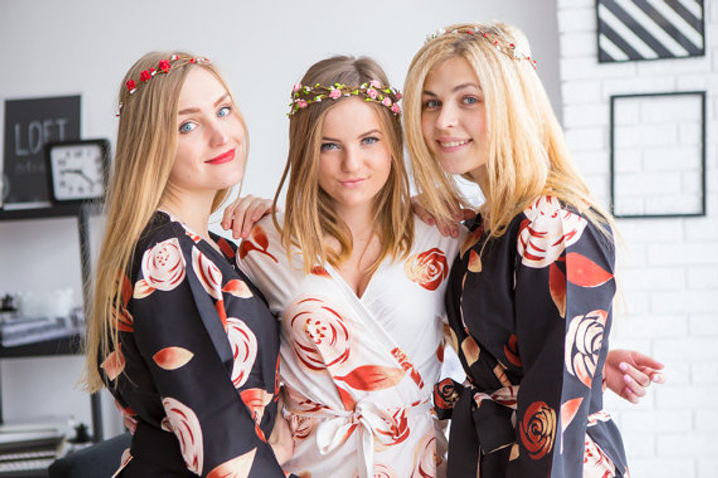 Black bridesmaids wedding robes in rumor among fairies