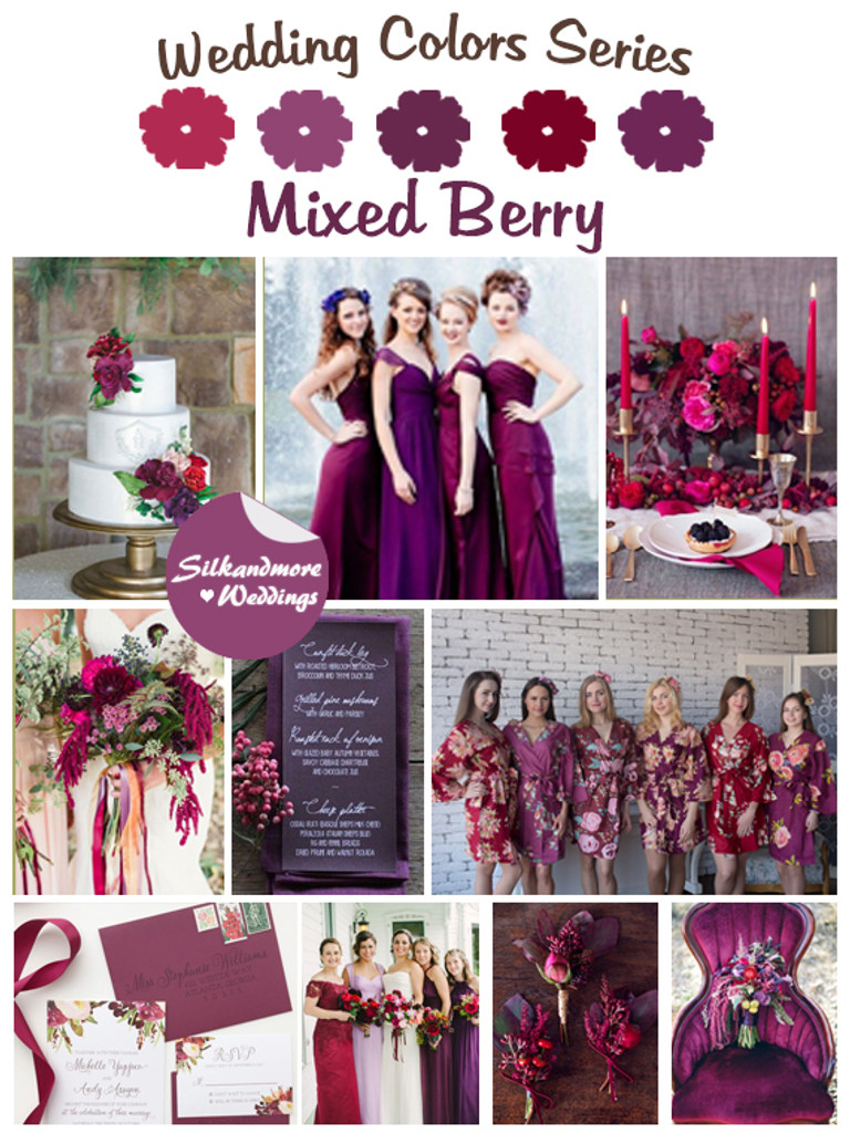 Mixed Berry Wedding Color Robes Wedding Color Palette Robes By