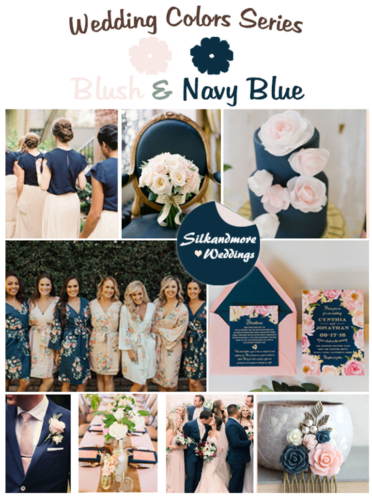 Navy Blue Wedding.Blush And Navy Blue Wedding Color Palette