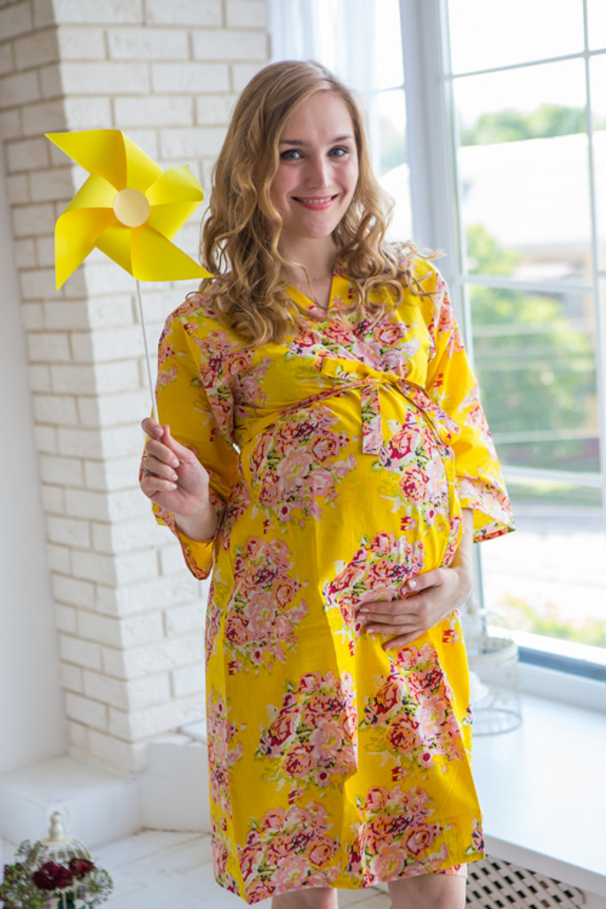Mommies in Yellow Floral Robes
