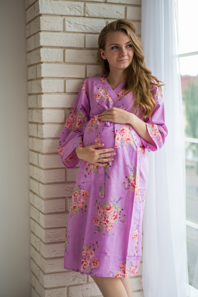 Mommies in Lavender Floral Robes