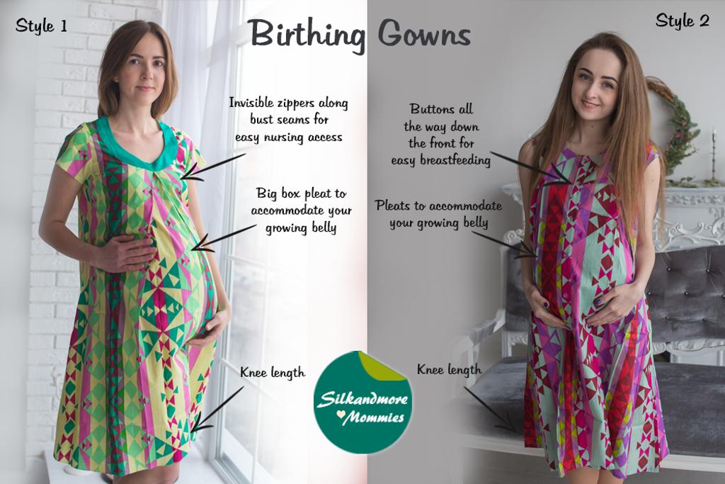 Aztec Pattern Birthing Gowns