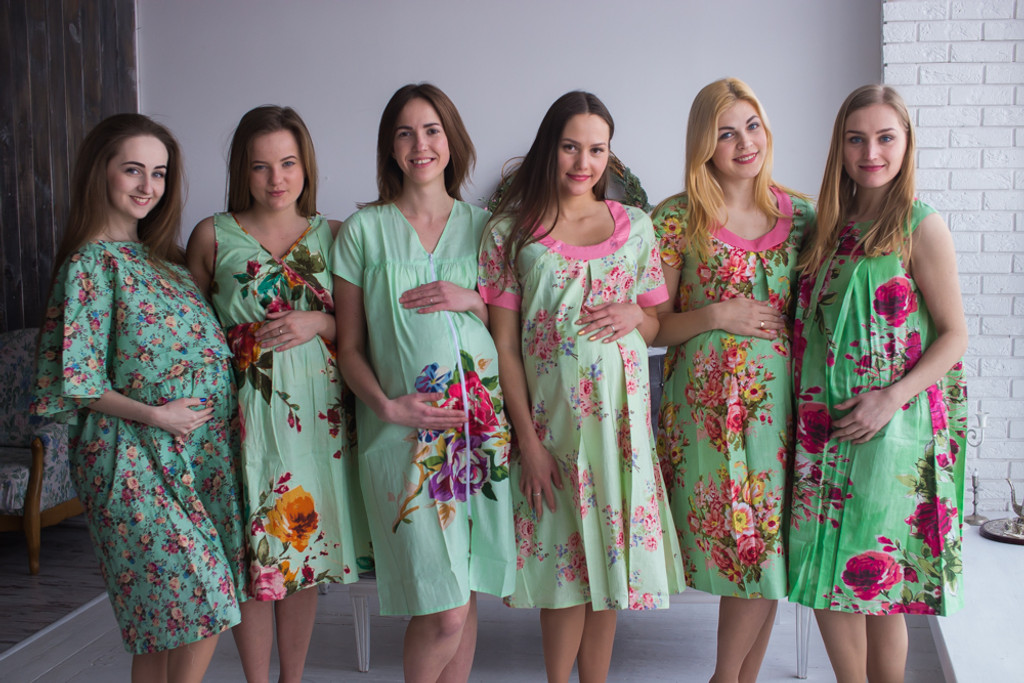 Mint Birthing Gowns