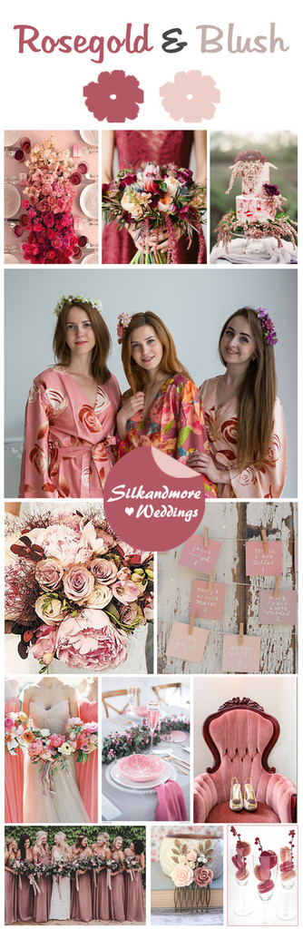 Rosegold and Blush Color Robes - Premium Rayon Collection