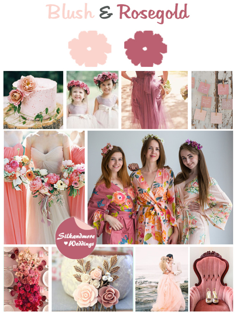 Blush and Rosegold Color Robes - Premium Rayon Collection