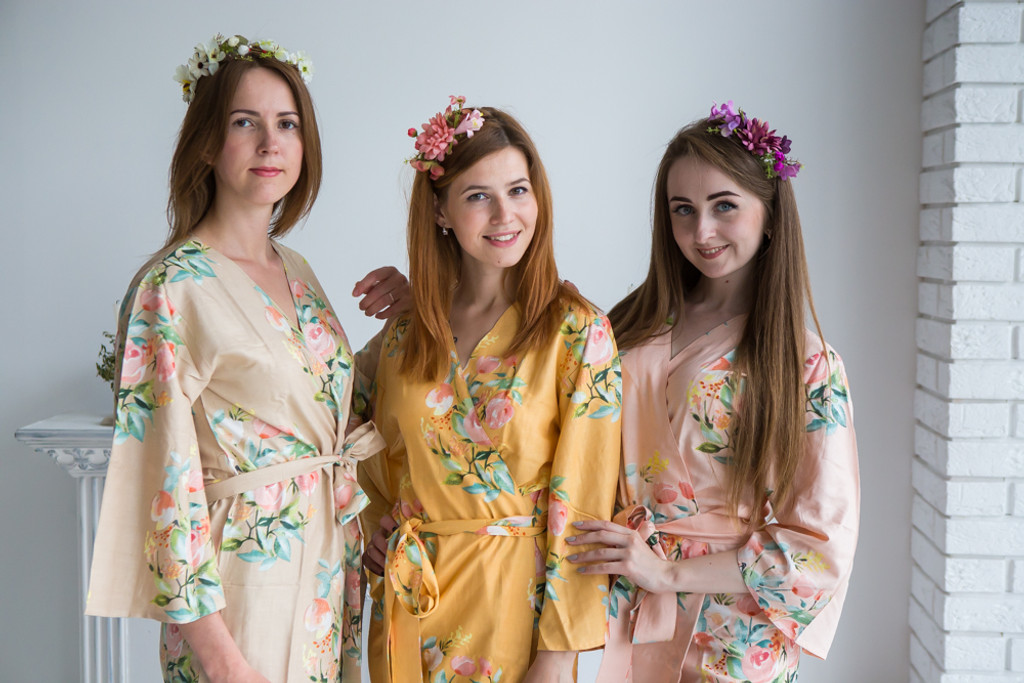 Blush, Champagne and Mustard Color Robes - Premium Rayon Collection