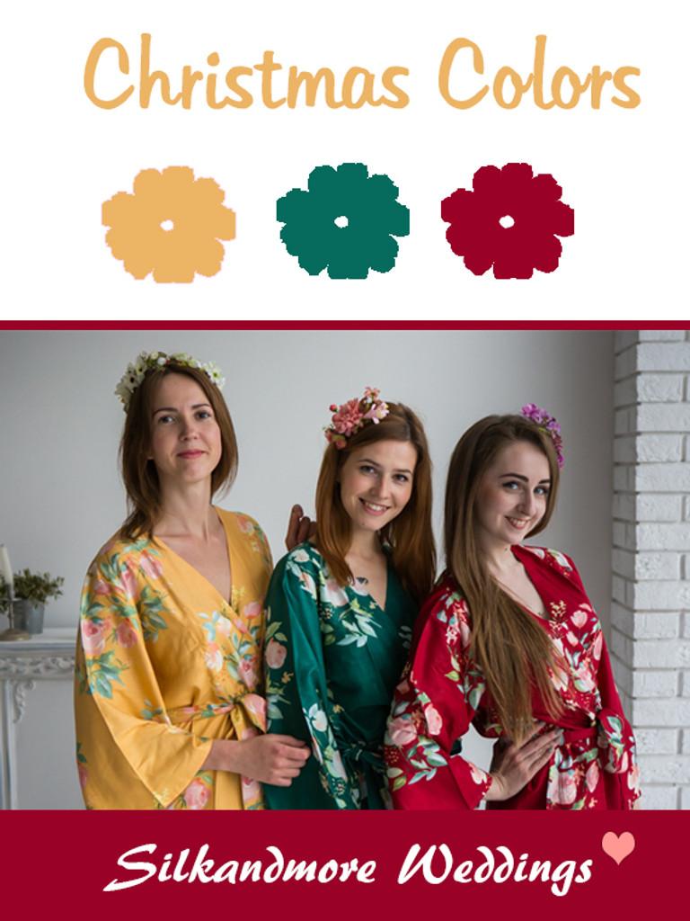Christmas Colors Color Robes - Premium Rayon Collection