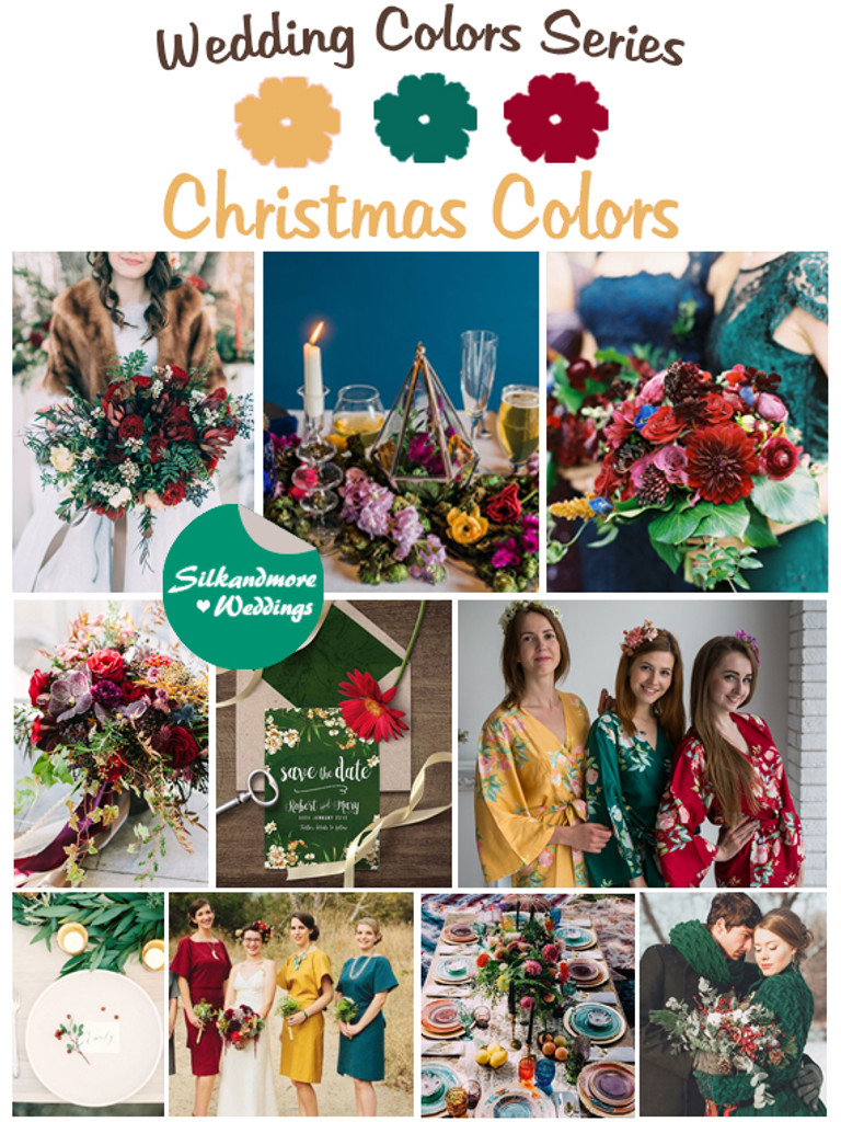 Christmas Colors Palette.Christmas Colors Wedding Color Palette