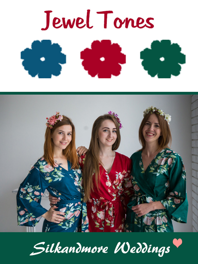 Jewel Tones Color Robes - Premium Rayon Collection